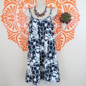 J. Crew Blue & White Floral Cotton Sun Dress 4